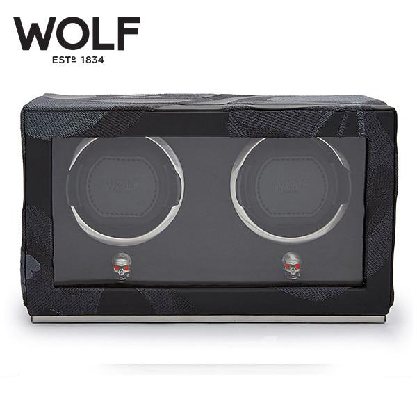 [울프 WOLF] 493202 / 워치와인더 2구 Memento Mori Cub Blk 2pc Watch Winder '해외오더 제품' 타임메카