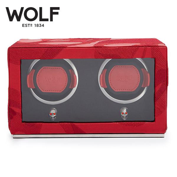 [울프 WOLF] 493272 / 워치와인더 2구 Memento Mori Cub Red 2pc Watch Winder '해외오더 제품' 타임메카