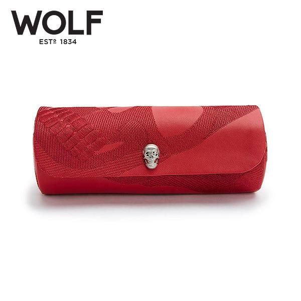 [울프 WOLF] 493472 / 시계보관함 1구 Memento Mori Red 3pc Triple Watch Roll '해외오더 제품' 타임메카