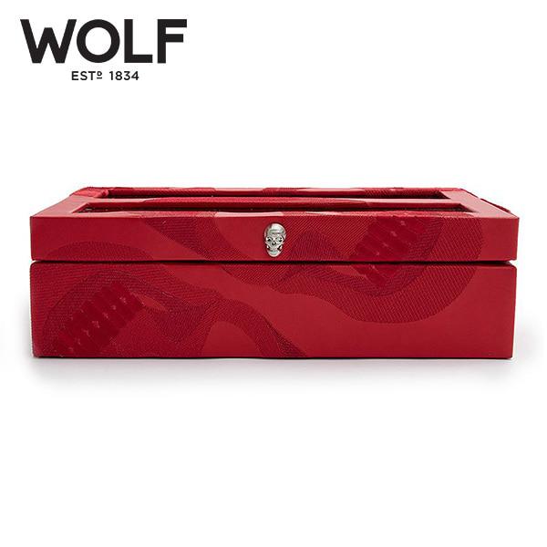 [울프 WOLF] 493572 / 시계보관함 10구 Memento Mori Red 10pc Watch Box '해외오더 제품' 타임메카