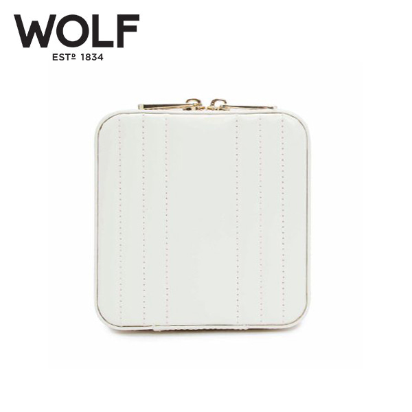 [울프 WOLF] 766253 / 보석함 Maria Small Zip Case White 타임메카