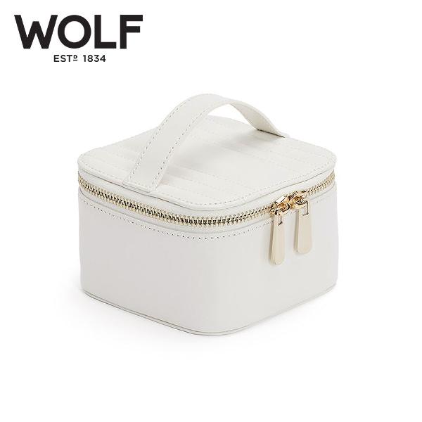 [울프 WOLF] 766553 / 보석함 Maria Zip Jewelry Cube White 타임메카