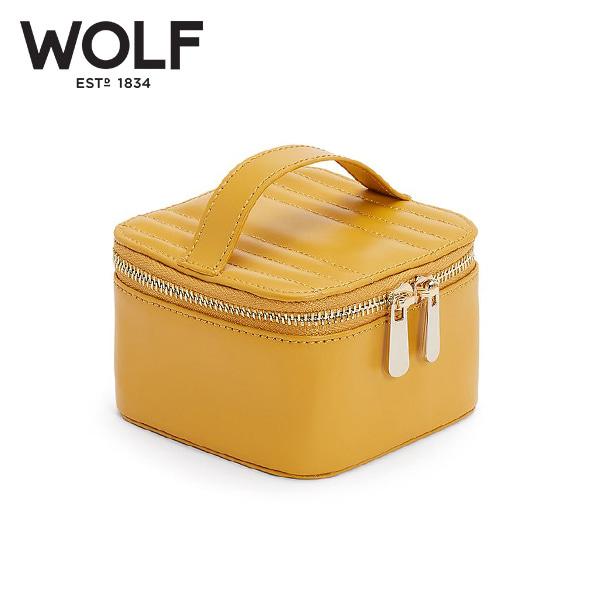 [울프 WOLF] 766593 / 보석함 Maria Zip Jewelry Cube Mustard 타임메카