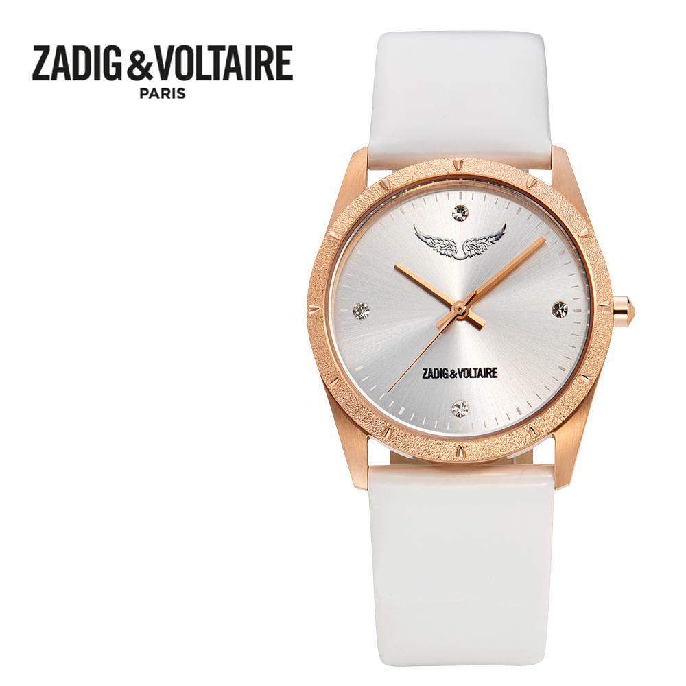 [쟈딕앤볼테르 ZADIG&VOLTAIRE] ZVF1012 FUSION COLLECTION 퓨전 컬렉션 여성용 가죽시계 33mm 타임메카
