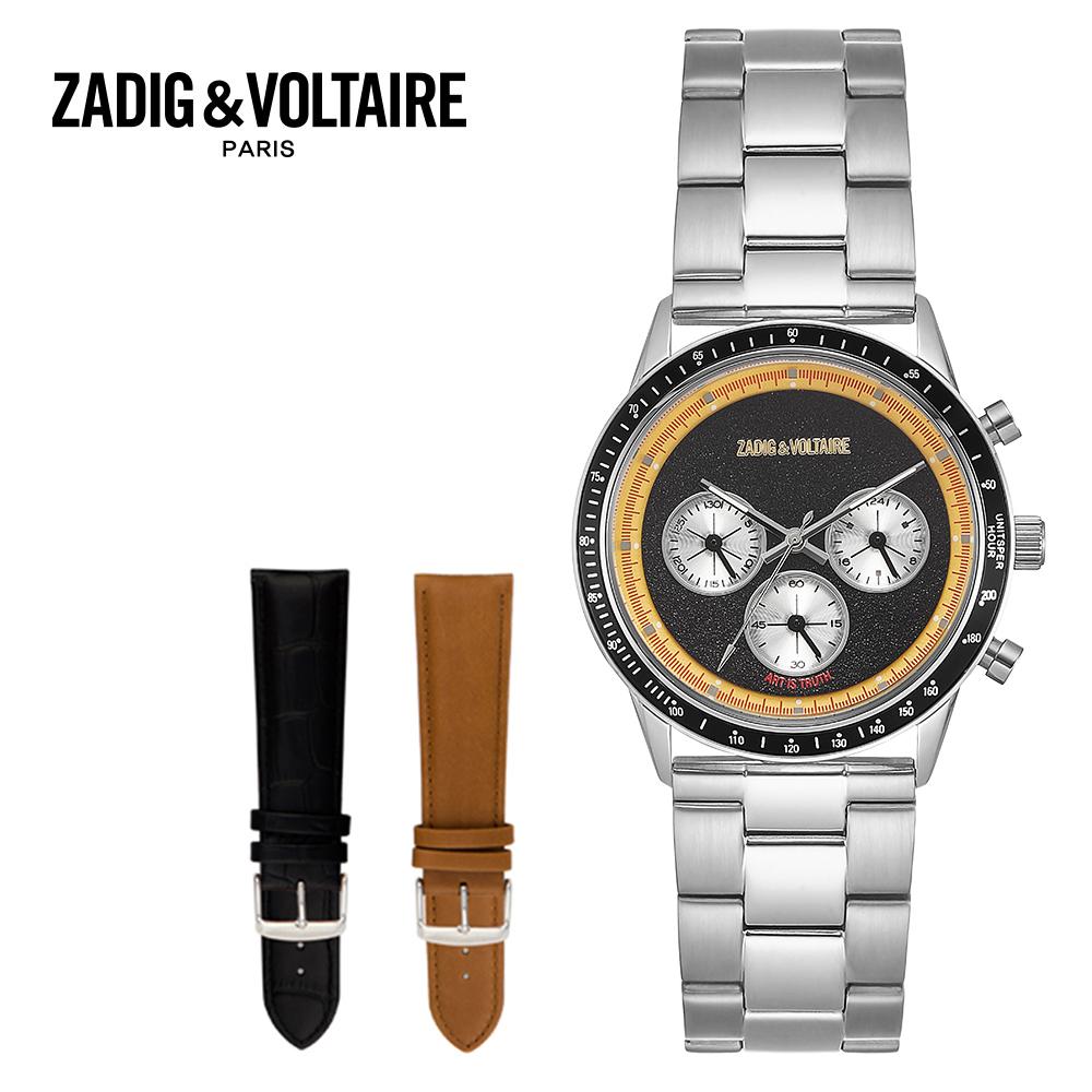 [쟈딕앤볼테르 ZADIG&VOLTAIRE] ZVM001S_BS 멀티펑션 남성 메탈시계 40mm / [사은품 에코백 증정] 타임메카