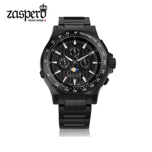 [자스페로 ZASPERO] TG201-42 TUFFATORE 문페이즈 남성 메탈 시계 45mm [자스페로코리아 정품]