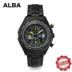 [알바시계 ALBA시계] AF3E99X 크로노그래프 남성 블랙 메탈시계 45mm