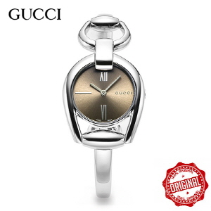 [구찌시계 GUCCI] YA139501 Horsebit Silver Brown Quartz [여성용] 28mm x 34mm