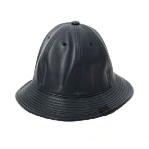 [플레이플러스 PLAYPLUS] leather label crusher hat navy