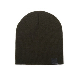 [플레이플러스 PLAYPLUS] leather label long beanie khaki