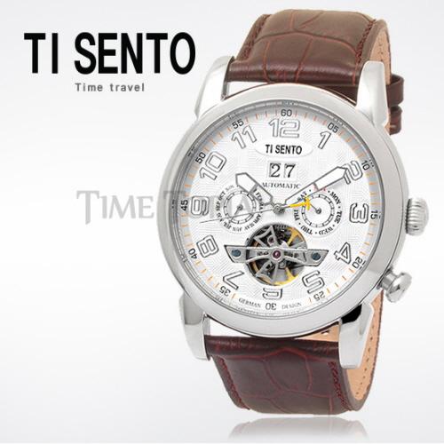 [티센토 TISENTO] TS50031WTW-DATE 오토매틱 오픈하트 듀얼 Open Heart Automatic dual