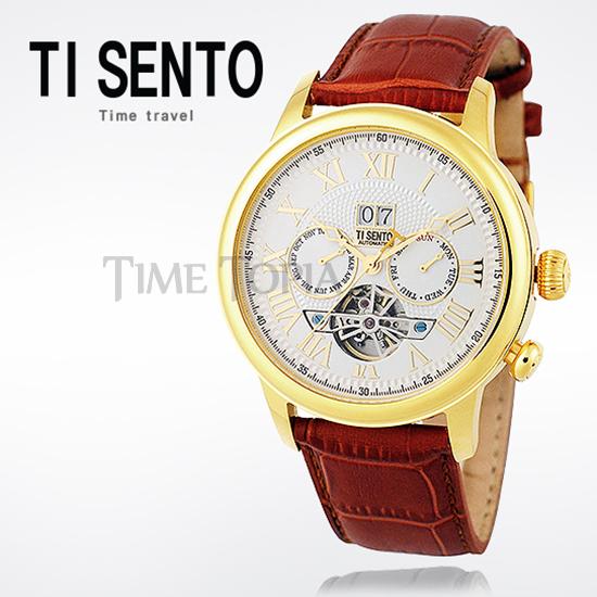 [티센토 TISENTO] TS50041GD-DATE 오토매틱 오픈하트 데이트 Automatic Open Heart Dating
