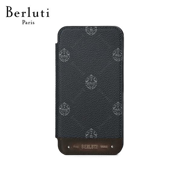 [벨루티 BERLUTI] X217009 아이폰 12 프로 남성 핸드폰케이스 블랙 타임메카