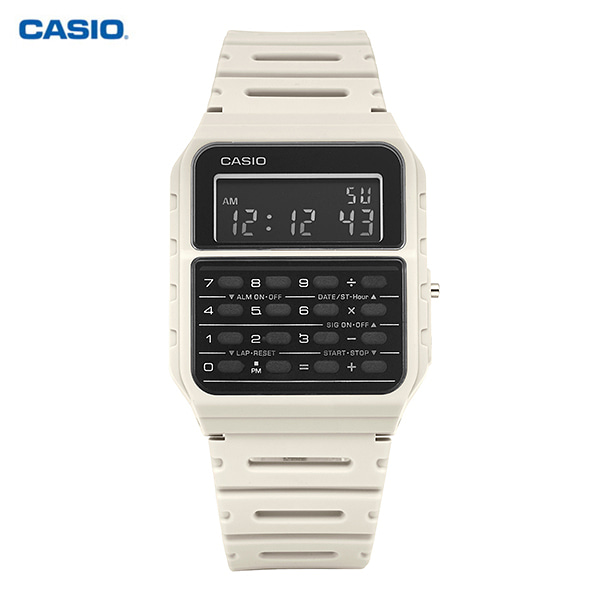 [카시오 CASIO] CA-53WF-8B / 쿼츠 공용 우레탄시계 43x34mm 타임메카