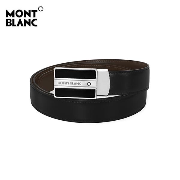 [몽블랑 MONTBLANC] 128136 / 마이스터스튁 Meisterstueck 팔라듐 남성 벨트 블랙 타임메카
