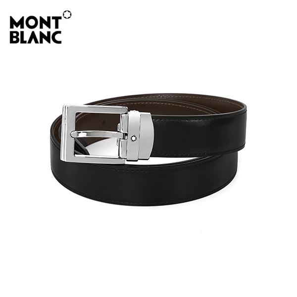 [몽블랑 MONTBLANC] 128142 / 클래식 양면벨트 남성 벨트 블랙 타임메카