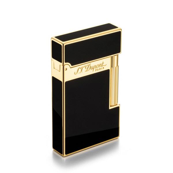 [듀퐁 S.T.Dupont] 016884 (CA16884ZZ) / 옐로우 골드 피니쉬 라이터 블랙 타임메카