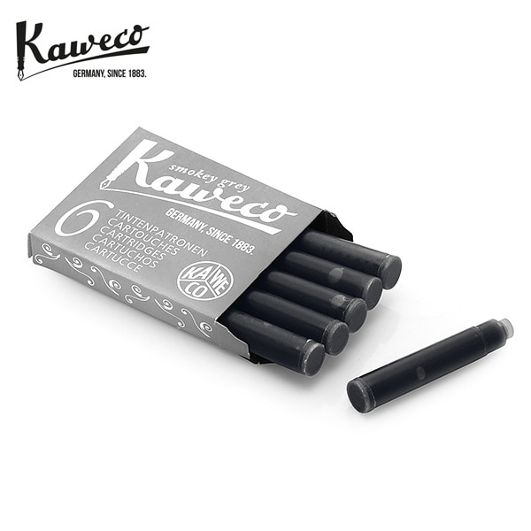 [카웨코 KAWECO] 10000997 스모키 그레이 6개입 잉크 카트리지 그레이 타임메카