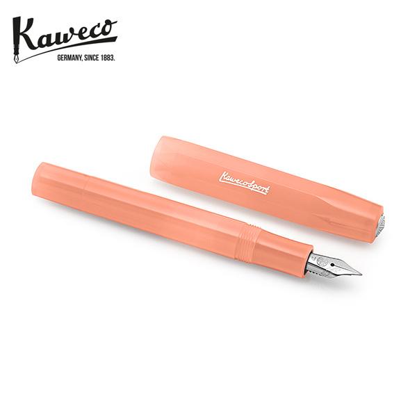 [카웨코 KAWECO] 10001847 프로스트 스포츠 소프트 만다린 (EF촉) 만년필 핑크 타임메카