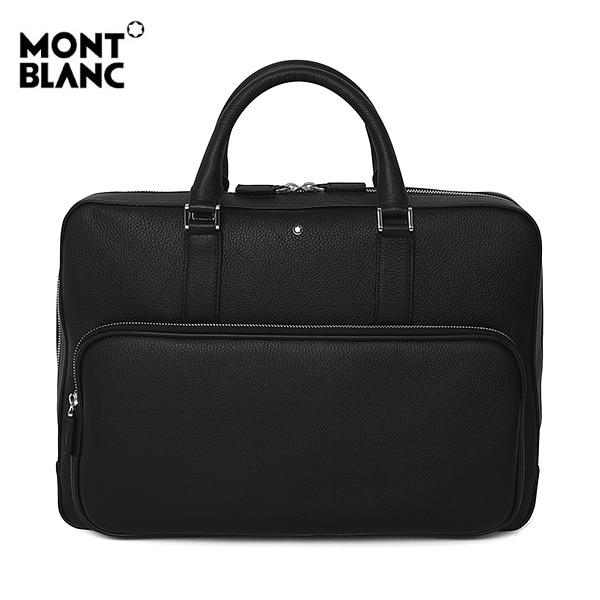 [몽블랑 MONTBLANC] 118735 / 마이스터스튁 Meisterstueck 소프트 그레인 슬림 남성 서류가방 블랙 타임메카