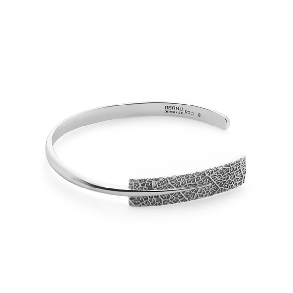 LEAF SILVER BANGLE(J106GII)ㅣ오바쿠