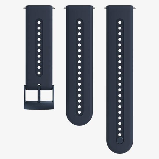 [순토시계 SUUNTO] SS050689000 / 애슬레틱7 실리콘 스트랩 그래나이트 블루 S+M 세트 24mm 타임메카