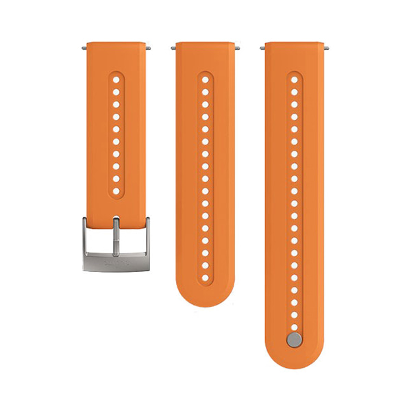 [순토시계 SUUNTO] SS050688000 / 애슬레틱7 실리콘 스트랩 오렌지 S+M 세트 24mm 타임메카