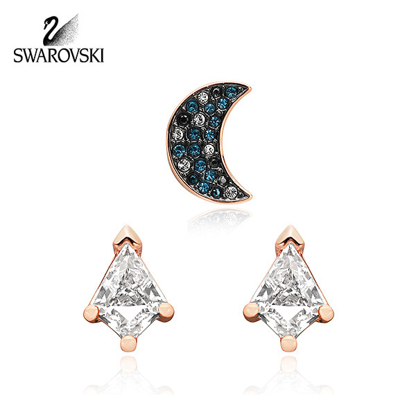 [스와로브스키 SWAROVSKI] 5515982 (5494353) / Symbolic Moon Set 귀걸이 세트 타임메카