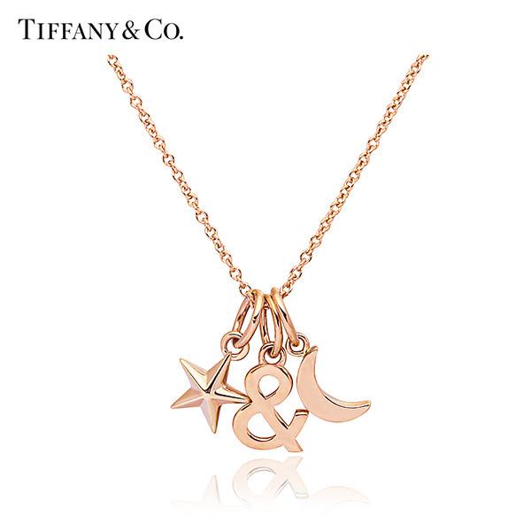 [티파니 TIFFANY] 62823216 / Tiffany & Love 티파니 러브 스타 문 18K 로즈골드 목걸이 타임메카