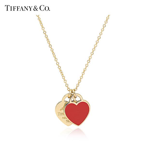[티파니 TIFFANY] 67801024 / Return to Tiffany 리턴 투 티파니 더블 하트 태그 미니 18K 골드 목걸이 타임메카