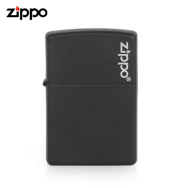 [지포 ZIPPO] ZP218ZL (218ZL) / 매트 MATTE 페인트 로고 라이터 블랙 타임메카