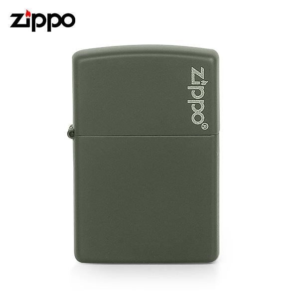 [지포 ZIPPO] ZP221ZL (221ZL) / 매트 MATTE 페인트 로고 라이터 그린 타임메카