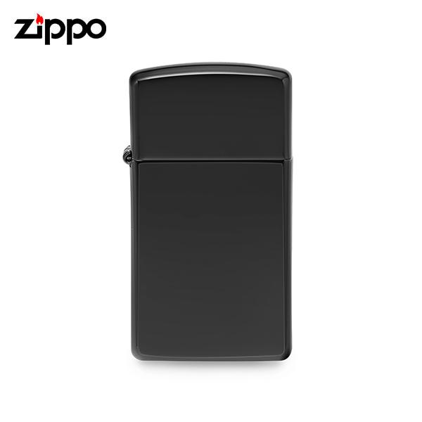 [지포 ZIPPO] ZP28123 (28123) / 에보니 슬림 Ebony Slim 플레인 라이터 블랙 타임메카
