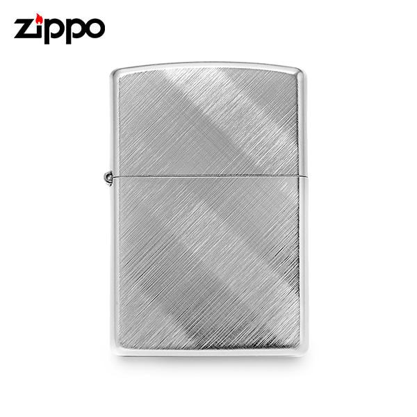 [지포 ZIPPO] ZP28182 (28182) / 다이에그널 Diagonal 위브 크롬 라이터 실버 타임메카